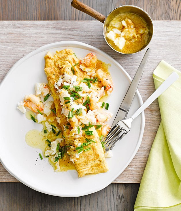 **Crab omelette with miso butter**