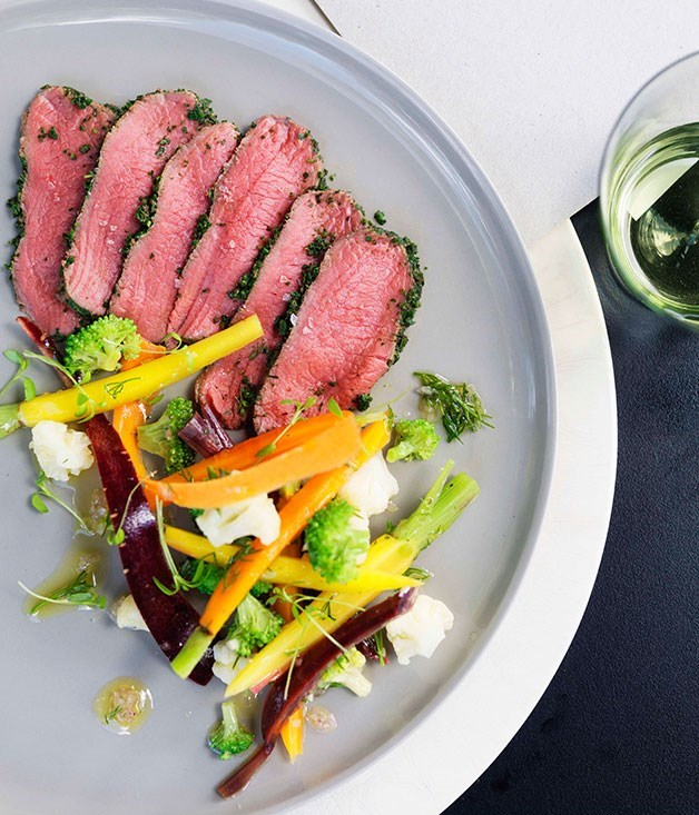 **Shannon Bennett: venison carpaccio with pickled vegetables**