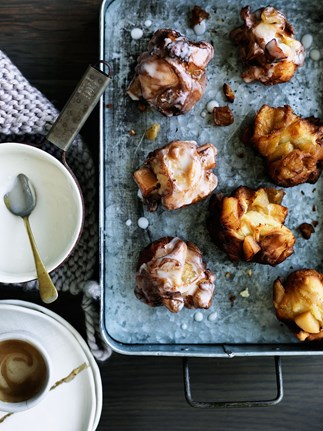 Quince and apple fritters