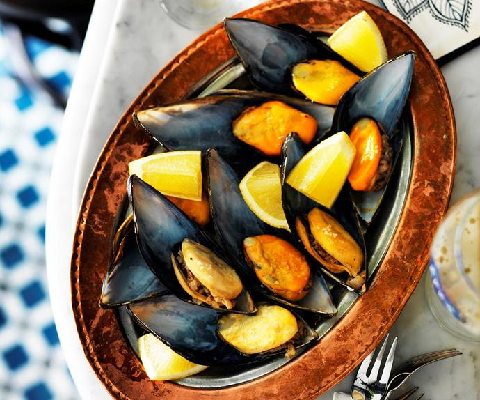 Stuffed mussels from Stanbuli, Enmore