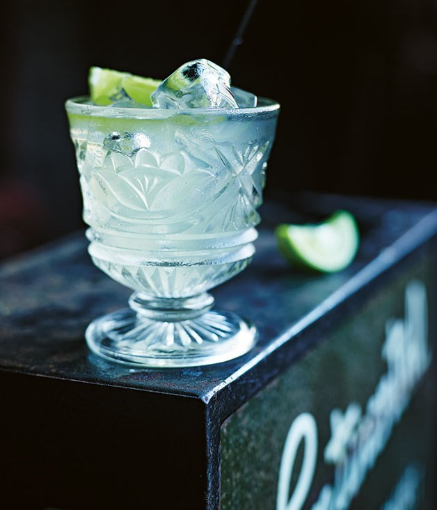 **Andalusian Buck cocktail recipe** Lime juice and wedges finish off this gin and sherry-based cocktail.