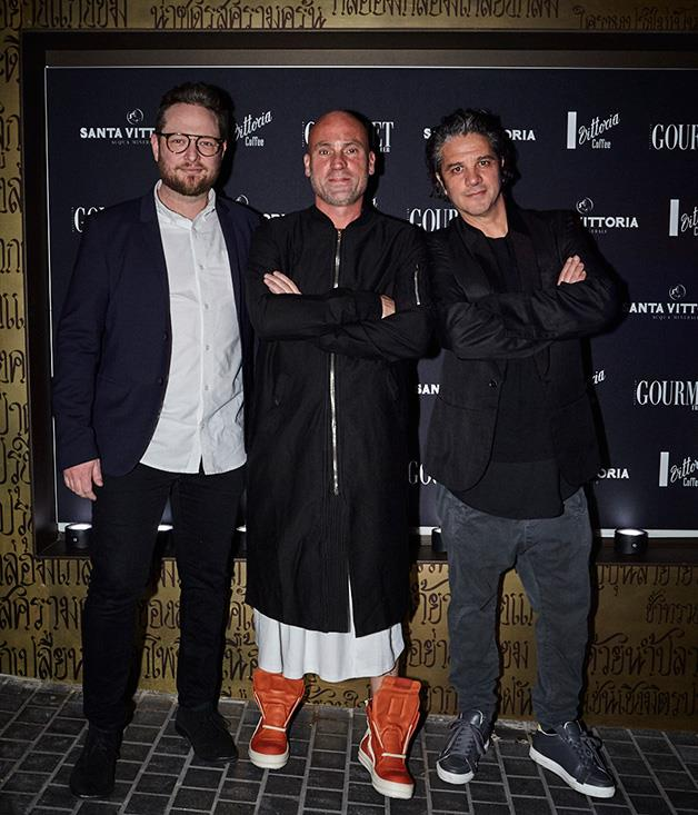 **** From l-r; Automata chef Clayton Wells, Maurice Terzini of Icebergs and The Dolphin, and 10 William St's Giovanni Paradiso