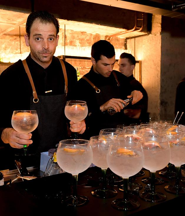 **** Tanqueray and tonics with pink grapefruit