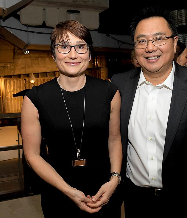 **** Bauer Media Group Publisher Cornelia Schulze with Bauer Media CEO Nick Chan