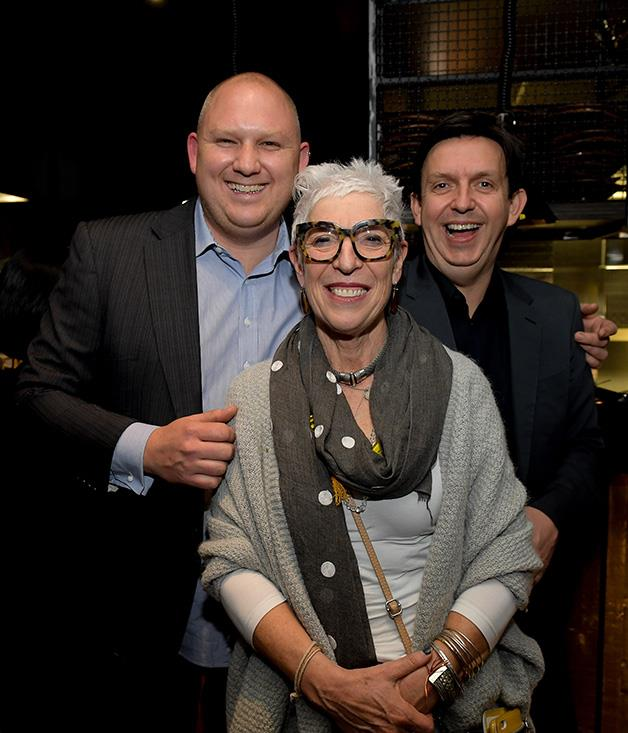 **** Icebergs chef Monty Koludrovic, OzHarvest's Ronni Kahn and Melbourne restaurateur Andrew McConnell