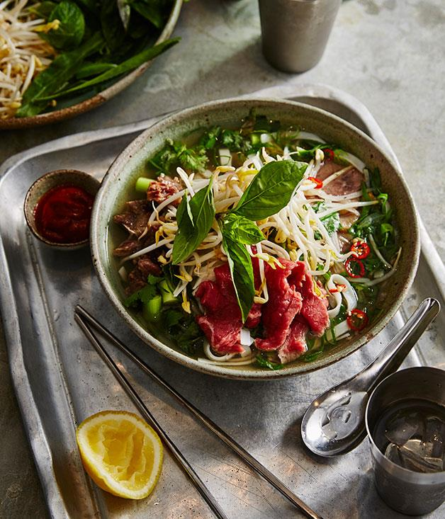 "**[Angie Hong's pho](https://www.gourmettraveller.com.au/recipes/browse-all/angie-hongs-pho-14237|target=""_blank"")**"