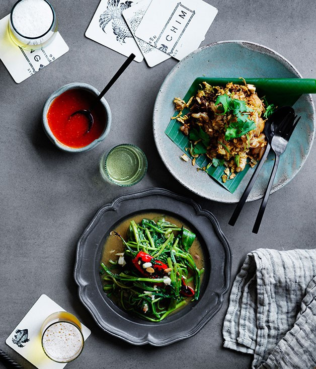 David Thompson's stir fried Siamese watercress