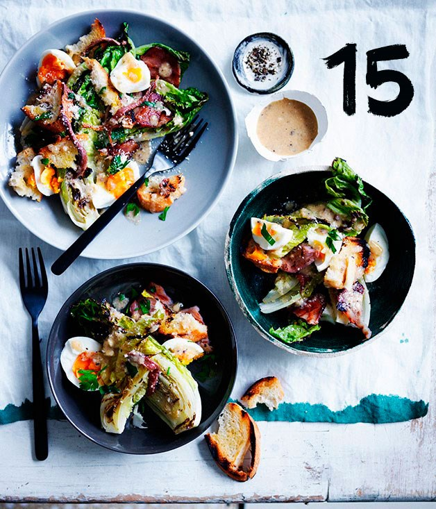 "[**Grilled Caesar salad**](https://www.gourmettraveller.com.au/recipes/browse-all/grilled-caesar-salad-12336|target=""_blank"")"