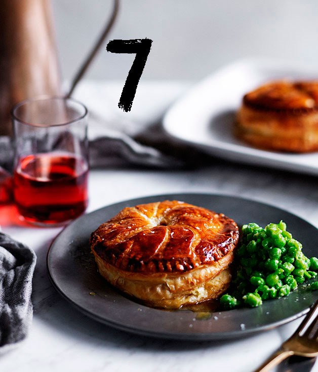 """[**Chicken, spring onion and tarragon Pithiviers**](https://www.gourmettraveller.com.au/recipes/browse-all/chicken-spring-onion-and-tarragon-pithiviers-12085