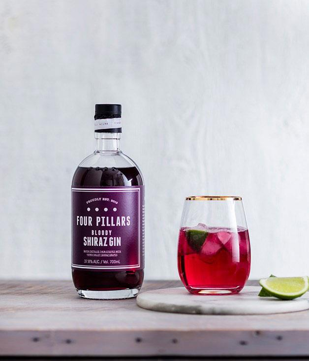 **Four Pillars Shiraz Gin** Four Pillars steeps Yarra Valley shiraz grapes in gin for eight weeks, presses the fruit, then adds more gin to make its Bloody Shiraz Gin, an unfiltered dazzler with a sharp purple punch. We like it best drunk straight over ice or, as seen here, in a G&T with lime. _$85 for 700ml, [fourpillarsgin.com.au](https://www.fourpillarsgin.com.au/)_