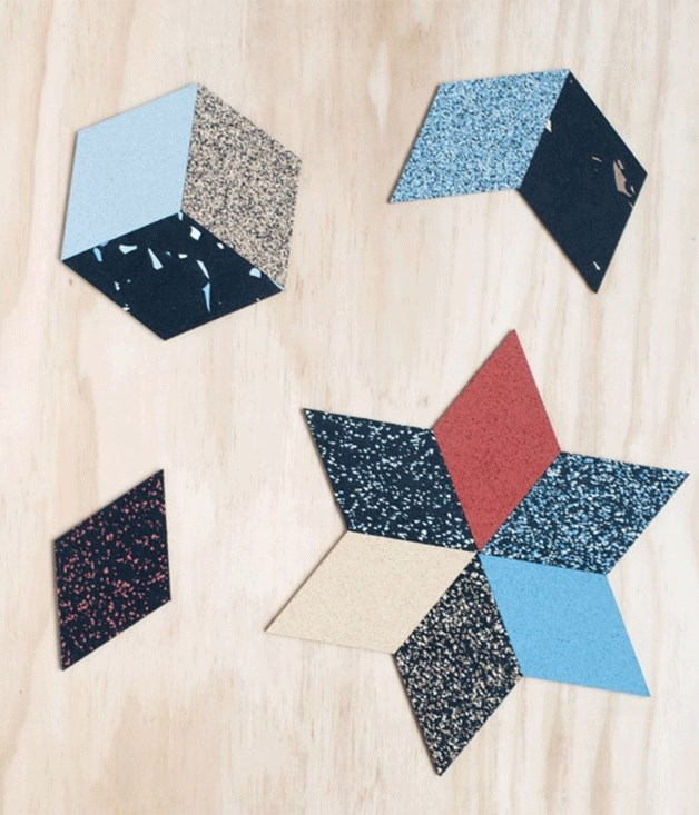 **Lauren Steller trivets from the DEA Store** These rhombus trivets, designed by Melbourne's Lauren Steller, are made from aeroplane tyres. Get your jigsaw on and make playful coasters, or go hell-for-leather and create larger, bolder placemats. _$44 for 12, $59 for 18, [thedeastore.com](http://www.thedeastore.com/)_