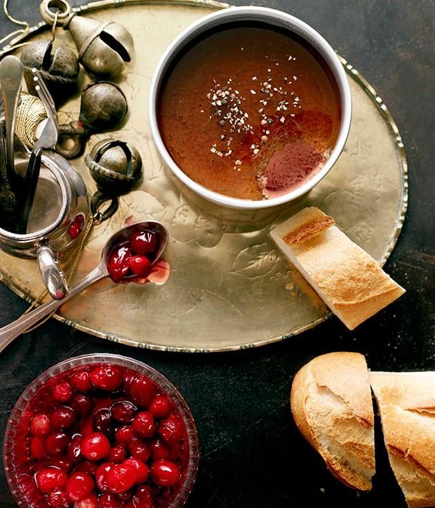 **Duck liver pâté with pickled cranberries**