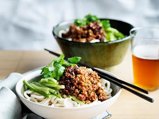 Pork ja-jiang mian noodles recipe