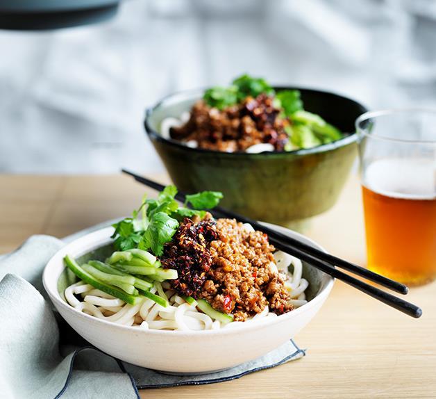 Pork ja-jiang mian noodles recipe