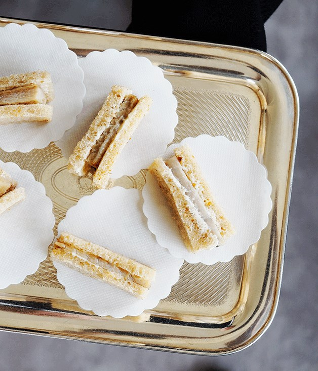 Smoked eel tea sandwiches
