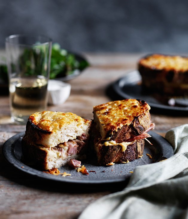 **Muse's pork hock croque-monsieur** Why have plain ham on your morning croque, when you could have chunks of salty pork hock? The Hunter Valley's Muse serves up a hearty breakfast recipe here.