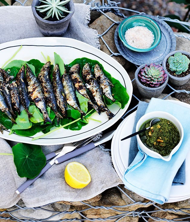 **Mike McEnearney's grilled sardines with nasturtiums and rosemary tarator** Nespresso ambassador Mike McEnearney isn't one to shy away from fish at breakfast, especially if they're smoky grilled sardines like these.
