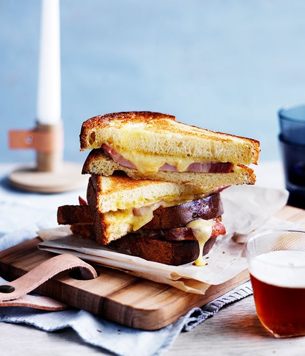 **Barrio Collective's bacon and cheese toasties** Top-notch ingredients are key to  Barrio Collective in Canberra's hefty and oozing bacon and cheese toasties.