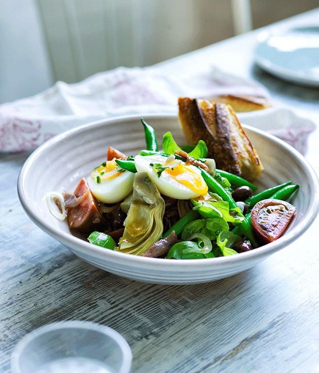 Artichoke Niçoise salad