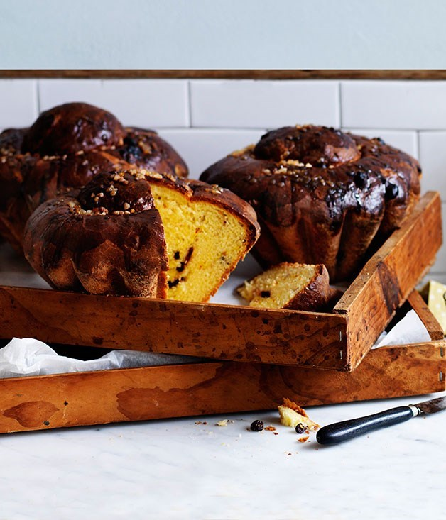 **Saffron and sour-cherry brioche**