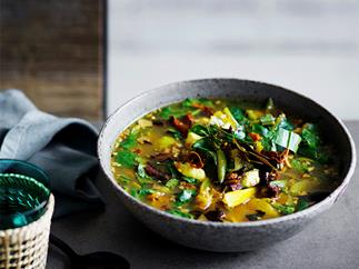 David Thompson's hot and sour soup of red snapper and turmeric