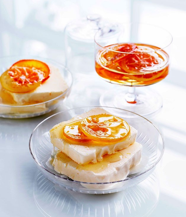 **Agrumi semifreddo** Agrumi is Italian for citrus fruits, and this semifreddo is fragrant with lemon and orange rind.