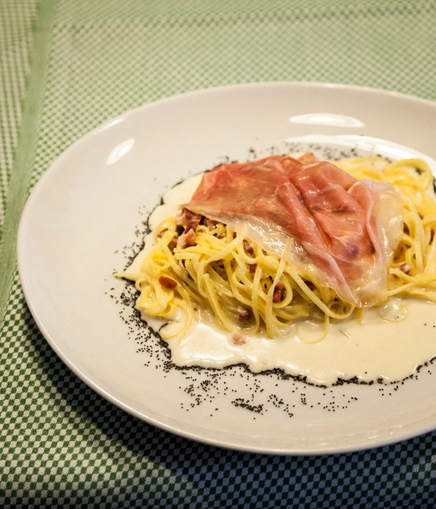 **Al Portonat's tagliolini with San Daniele**