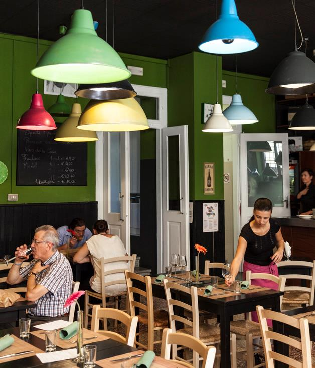 **Caffe Tomaso's interior** Located in the centre of Udine, Caffe Tomaso's ever-changing menu showcases innovative, modern dishes. With a menu that is recited to you at your table, chef and owner Andrea Zuccolo focuses on using the finest local ingredients.