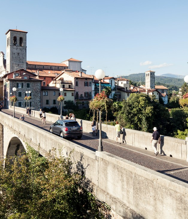 **Cividale's Devil's Bridge** Suspended over the Natisone River in Cividale del Friuli, the Devil's Bridge has suffered many blows since it was constructed in the 15th century, but sits proud today, connecting both sides of the city in spectacular fashion.