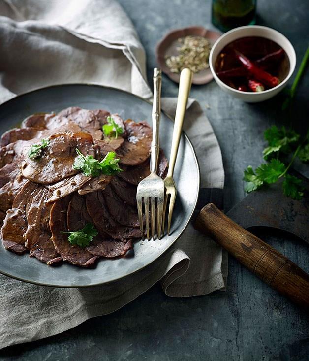 **Sichuan braised beef slices (Wu xiang niu rou)**