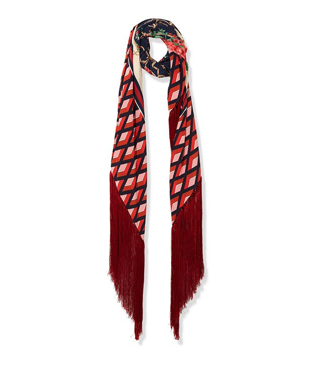 **Gucci** Gucci silk-twill scarf, $1,520, from [Net-a-Porter](https://www.net-a-porter.com/).