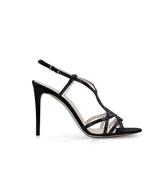 **Giorgio Armani** [Giorgio Armani](http://www.armani.com/au/giorgioarmani) suede and rhinestones sandals, $1,042.