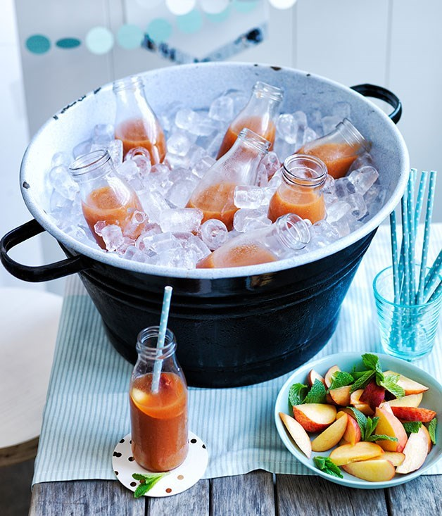 "[**Peach-Ginger Punch with Rye**](https://www.gourmettraveller.com.au/recipes/browse-all/peach-ginger-punch-with-rye-12128|target=""_blank"")"