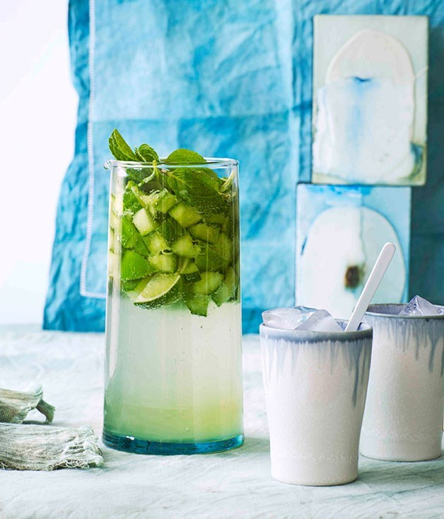 "[**Cucumber and Gin Punch**](https://www.gourmettraveller.com.au/recipes/browse-all/cucumber-and-gin-punch-11116|target=""_blank"")"