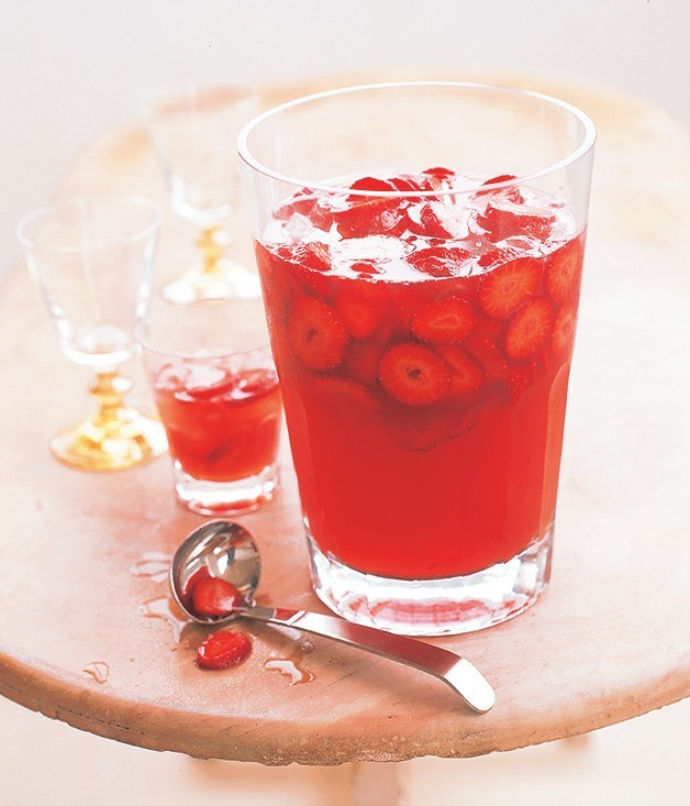 "[**Prosecco, Strawberry and Peach Punch**](https://www.gourmettraveller.com.au/recipes/fast-recipes/prosecco-strawberry-and-peach-punch-9363|target=""_blank"")"