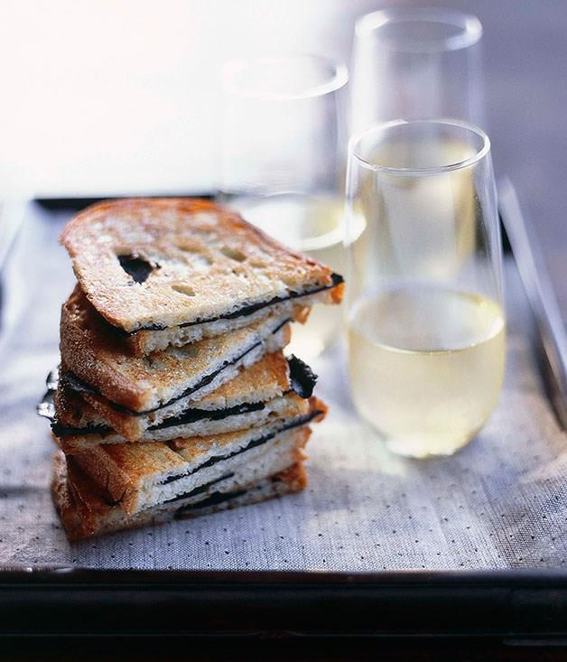 "**[Toasted truffle sandwiches](https://www.gourmettraveller.com.au/recipes/browse-all/toasted-truffle-sandwiches-9707|target=""_blank"")**"