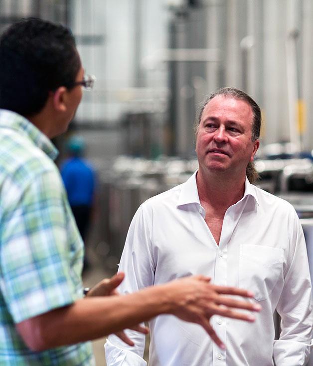 **Neil Perry with Patrón distiller Antonio Rodríguez**