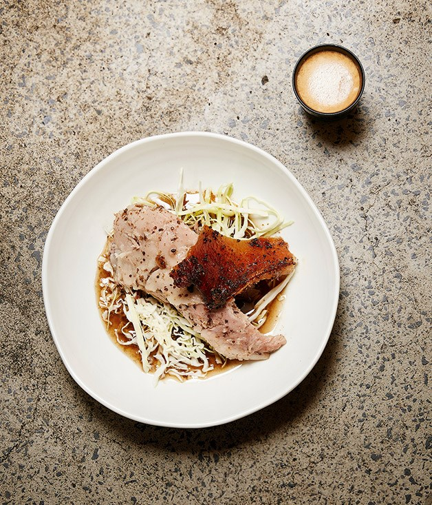 Mike McEnearney's pulled pork shoulder cooked in cider and espresso coffee
