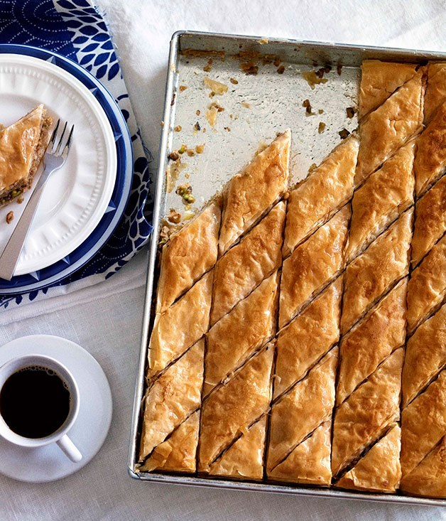 "[**Baklava**](https://www.gourmettraveller.com.au/recipes/browse-all/baklava-8705|target=""_blank"")"