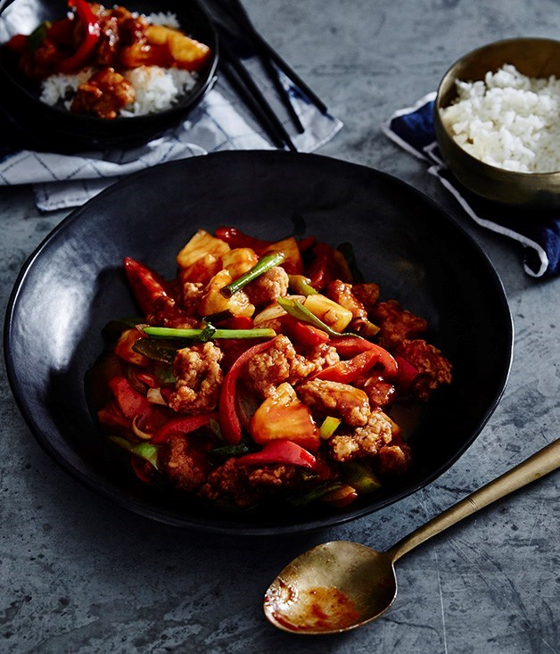 "[**Sweet and sour pork**](https://www.gourmettraveller.com.au/recipes/browse-all/sweet-and-sour-pork-14234|target=""_blank"")"