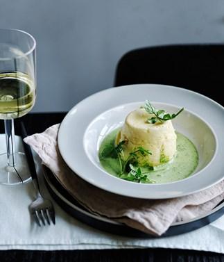 Jaques Reymond's délice soufflés of fromage blanc
