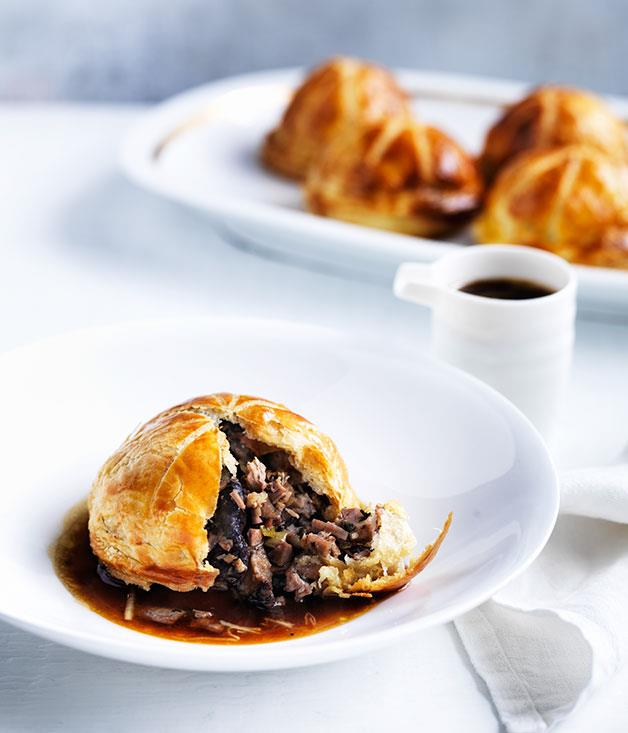 "**[Christine Manfield's five-spice duck and shiitake pies](http://www.gourmettraveller.com.au/recipes/chefs-recipes/christine-manfields-five-spice-duck-and-shiitake-pies-8528|target=""_blank"")**"