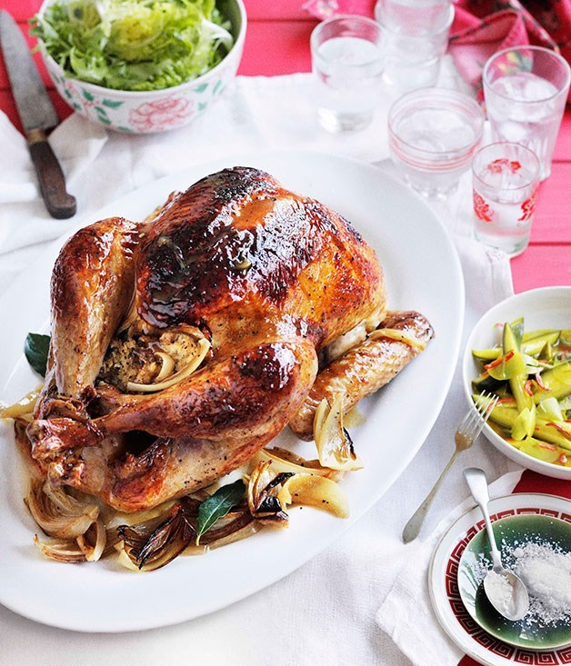 **Tony Tan's Malaysian-style roast turkey with cucumber acar**