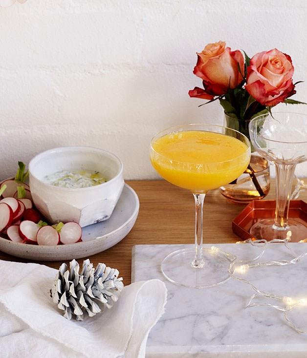 "[**Coconut and mango daiquiris**](https://www.gourmettraveller.com.au/recipes/chefs-recipes/coconut-and-mango-daiquiris-8157|target=""_blank"")"