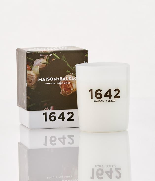 **Maison Balzac 1642 Candle - $69** [**Buy it here.**](http://sorrythanksiloveyou.com/maison-balzac-1642-candle)  Maison Balzac united with Sydney floral artist Doctor Lisa Cooper to create this candle, inspired by Adriaen Van Utrecht's painting from 1642, Vanitas - a still-life with a bouquet and a skull. Light it up for notes of violet, blackberry and cedarwood**.   **