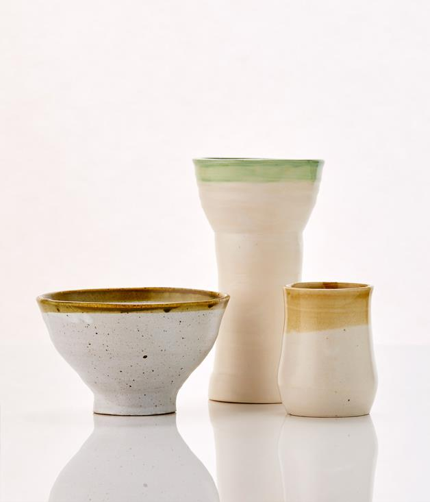 **Margaret Westcott Ceramics $40-$60** **[Buy them here.](http://sorrythanksiloveyou.com/gourmettraveller/ceramics-and-glassware)**  Each of Margaret Westcott's ceramic pieces is developed and made in her studio at Pearl Beach on the New South Wales Central Coast, and each and every piece is slightly different. The surrounding environment - including the beach and native bush land - heavily influence Westcott's choice of colour, clay and glaze. Glazes run and forms slighter differ, making each piece unique.