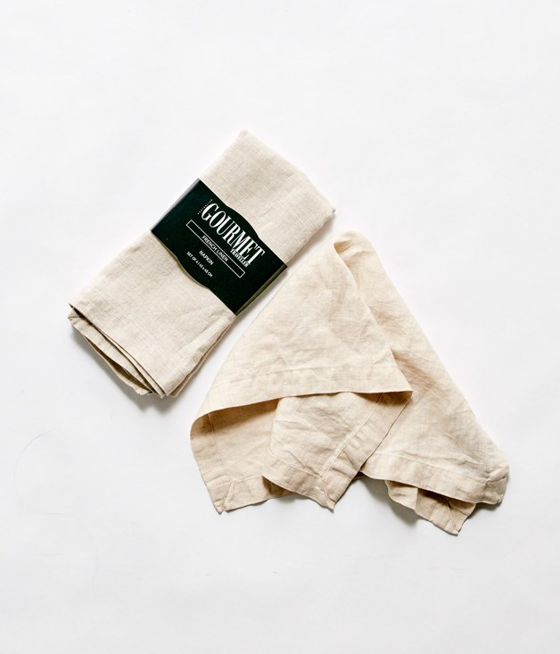 **Madras Link x Gourmet Traveller Maxwell Natural Linen Napkins - $69.95 for six** [**Buy them here.**](http://sorrythanksiloveyou.com/madras-link-x-gourmet-traveller-maxwell-natural-linen-napkin)  Crafted from fine-textured linen for a classic look to love for a lifetime, Maxwell 100 per cent linen napery is washed to feature a lived-in look, and is designed to withstand the rigours of everyday use.