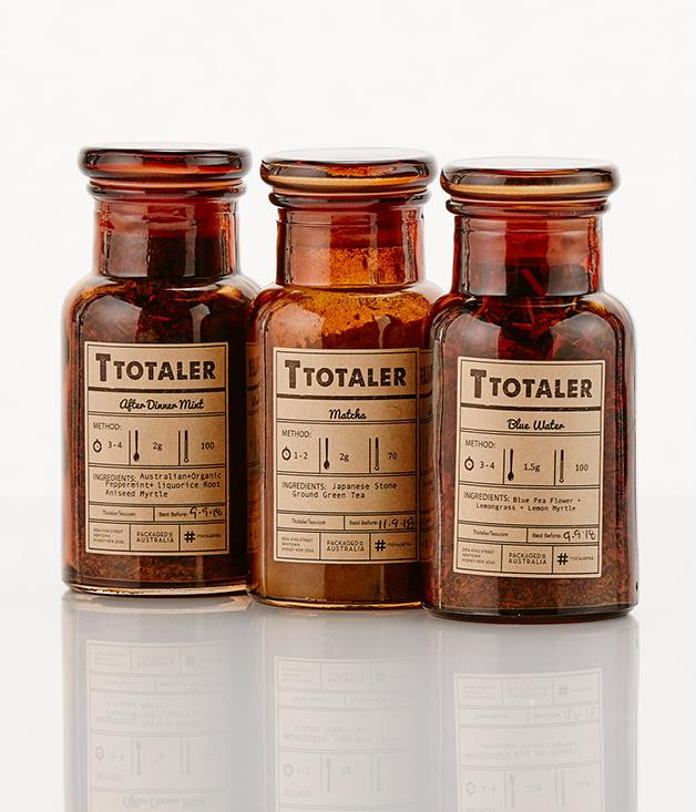 **T Totaler loose leaf tea - $28-$37** [Buy them here.](http://sorrythanksiloveyou.com/t-totaler-matcha-tea)  T Totaler is a loose-leaf tea company based in Sydney that creates unique locally-grown loose-leaf tea and herbal blends. Bring back your apothecary jar for a refill at their tea bar in Newtown.