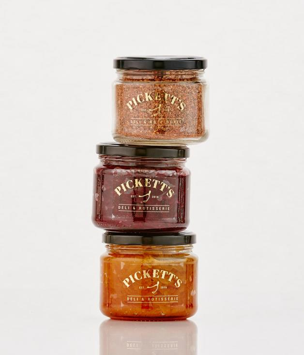 **Pickett's Deli and Rotisserie products - $13.50-$14.50** [Buy them here.](http://sorrythanksiloveyou.com/pickett-s-deli-rotisserie-spice-rub)  Melbourne chef Scott Pickett (of Estelle Bistro, ESP and Saint Crispin fame) has developed a range of handmade preserves for his latest restaurant, Pickett's Deli & Rotisserie in the Queen Victoria Market. Pickett sources the produce for his preserves, pickles and chutneys at the markets.