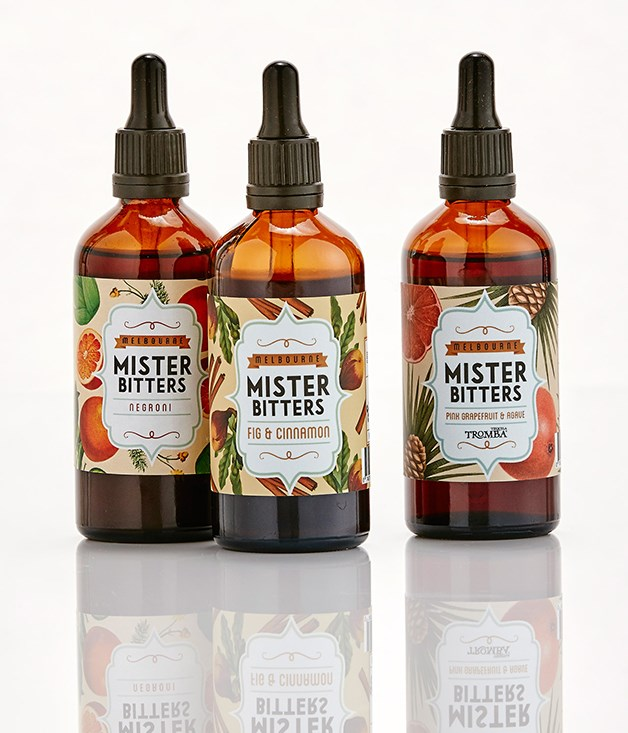 **Mister Bitters - $19.95** [Buy them here.](http://sorrythanksiloveyou.com/gourmettraveller/spirits)  Mister Bitters is Australia's first bitters company based in Melbourne, created thanks to the mutual love of bitters of the guys behind Lily Blacks cocktail bar and OnlyBitters.com. Together, they wanted to create a greater Australian presence in the global bitters culture.
